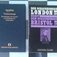 Coleccionismo deportivo: AJEDREZ DER SCHACHKONGRESS ZU LONDON IM JAHRE 1862,NEBST DEM SCHACHKONGRESS ZU BRISTOL IM JAHRE 1861. Lote 128369451