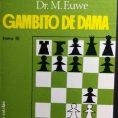 Coleccionismo deportivo: LIBRO AJEDREZ GAMBITO DE DAMA. Lote 128862819