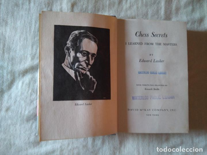 Coleccionismo deportivo: Ajedrez : Chess Secrets I learned from the masters, Lasker - Foto 3 - 130270686