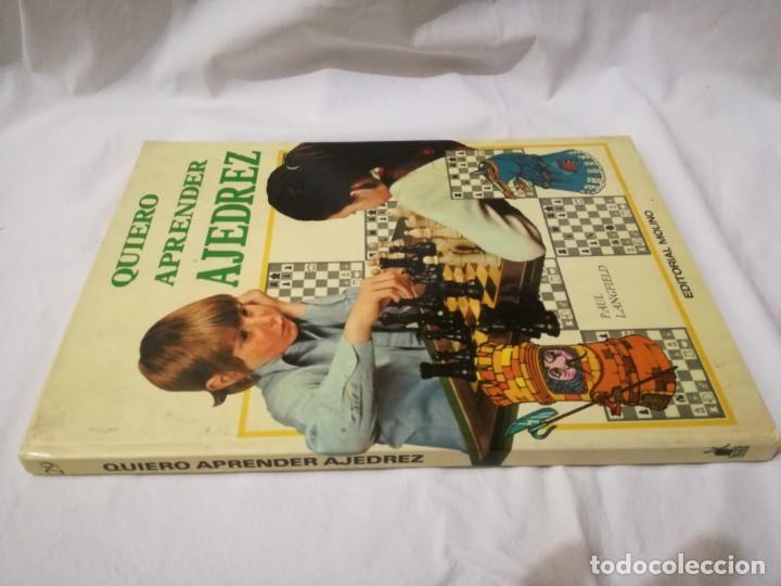 QUIERO APRENDER AJEDREZ-EDITORIAL MOLINO-1975GU5DEPORTE(Coleccionismo Deportivo - Libros de Ajedrez)