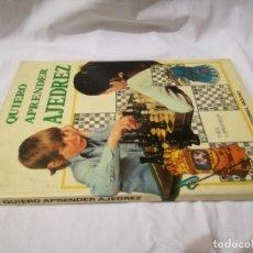 Coleccionismo deportivo: QUIERO APRENDER AJEDREZ-EDITORIAL MOLINO-1975GU5DEPORTE. Lote 131058740