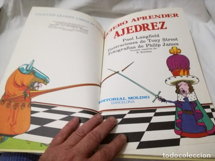Coleccionismo deportivo: quiero aprender ajedrez-editorial molino-1975gu5deporte - Foto 7 - 131058740