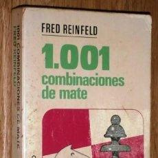 Coleccionismo deportivo: 1001 COMBINACIONES DE MATE POR FRED REINFELD DE ED. BRUGUERA EN BARCELONA 1977 2ª EDICIÓN. Lote 131150136