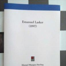 Coleccionismo deportivo: AJEDREZ EMANUEL LASKER; UNA PARTIDA CON A.B. HODGES; EL AJEDREZ EN MEXICO. MÁRQUEZ STERLING(REPRINT). Lote 132103794