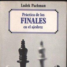 Coleccionismo deportivo: LUDEK PACHMAN :PRÁCTICA DE LOS FINALES EN AJEDREZ (ESCAQUES, 1988). Lote 133561286