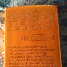 Coleccionismo deportivo: ENCICLOPEDIA APERTURA AJEDREZ, TOMO E. Lote 133563542