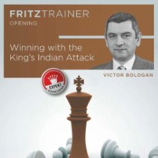 Coleccionismo deportivo: AJEDREZ. CHESS. WINNING WITH THE KING'S INDIAN ATTACK - VICTOR BOLOGAN DVD-ROM. Lote 148862100