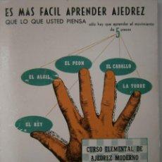 Coleccionismo deportivo: ES MAS FACIL APRENDER AJEDREZ QUE LO QUE USTED PIENSA GABRIEL VICENTE MAURA RICARDO AGUILERA 1973. Lote 135531254