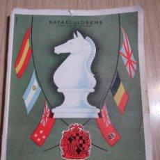 Coleccionismo deportivo: TORNEO INTERNACIONAL DE AJEDREZ DE BARCELONA 1946 RAFAEL LLORENS. Lote 138617358