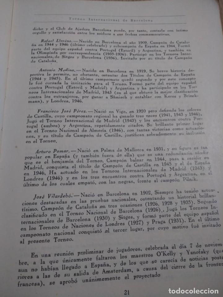 Coleccionismo deportivo: TORNEO INTERNACIONAL DE AJEDREZ DE BARCELONA 1946 RAFAEL LLORENS - Foto 7 - 138617358
