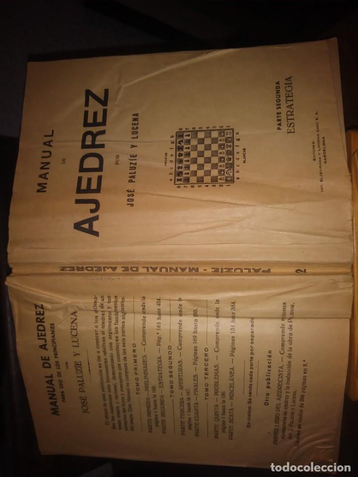 Coleccionismo deportivo: Manual de ajedrez. José Paluzie y Lucena. Parte segunda. Estrategia. - Foto 5 - 138911290