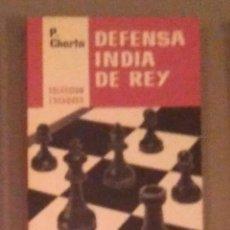 Collectionnisme sportif: AJEDREZ DEFENSA INDIA DE REY CHERTA ESCAQUES N.6. Lote 138914010