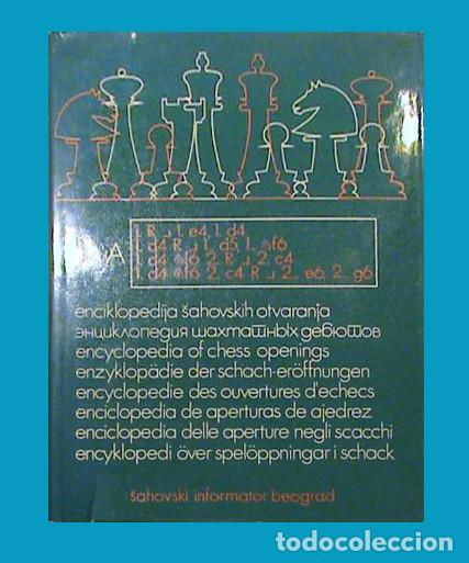 AJEDREZ ENCICLOPEDIA DE APERTURAS A TOMO V (INGLESAS) (Coleccionismo Deportivo - Libros de Ajedrez)
