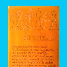 Coleccionismo deportivo: AJEDREZ ENCICLOPEDIA APERTURA AJEDREZ E (INDIAS). Lote 139178922