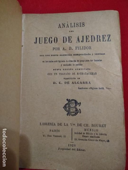 Coleccionismo deportivo: ANALISIS DEL JUEGO DE AJEDREZ ANDRE DANICAN FILIDOR 1926 - Foto 3 - 141222326