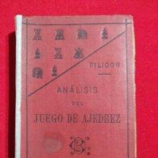 Coleccionismo deportivo: ANALISIS DEL JUEGO DE AJEDREZ ANDRE DANICAN FILIDOR 1926. Lote 141222326