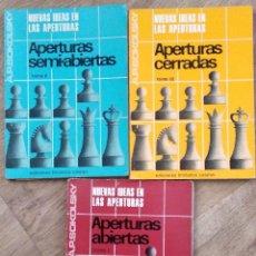Coleccionismo deportivo: NUEVAS IDEAS EN LAS APERTURAS - A.P. SOKOLSKY - TRES TOMOS (COLECCIÓN COMPLETA) - AÑO 1967. Lote 142900982