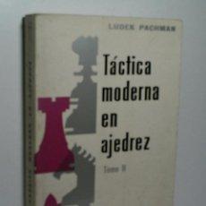 Coleccionismo deportivo: TÁCTICA MODERNA EN AJEDREZ. TOMO II. PACHMAN LUDEK. 1972. Lote 143894178