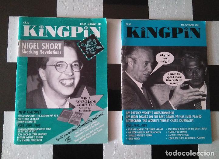 AJEDREZ REVISTA SATÍRICA EN INGLÉS KINGPIN N.21 Y N. 25 (Coleccionismo Deportivo - Libros de Ajedrez)