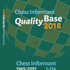 Coleccionismo deportivo: AJEDREZ. CHESS INFORMANT QUALITY BASE 2018 CHESS INFORMANT 1965-2017 1-134 - TH CHESS INFORMANT TEAM. Lote 145237478