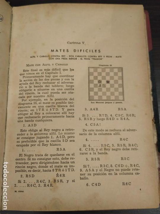 Coleccionismo deportivo: EL FINAL -ESTUDIO COMPLETO DE TODA PARTIDA DE AJEDREZ. MIGUEL CZERNIAK. BUENOS AIRES 1941,1ªEDICIÓN. - Foto 3 - 146887078