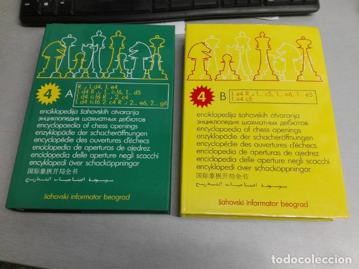 Coleccionismo deportivo: ENCICLOPEDIA DE APERTURAS DE AJEDREZ / 4 TOMOS: 4A - 4B - 4C - 4D / SAHOVSKI INFORMATOR BEOGRAD 2001 - Foto 2 - 146987062