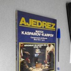 Coleccionismo deportivo: MATCH KASPAROV - KARPOV CAMPEONATO DEL MUNDO NEW YORK - LYON / LORENZO PONCE SALA / HISPANO EUROPEA . Lote 147319242