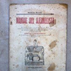 Coleccionismo deportivo: MANUAL DEL AJEDRECISTA. MARTÍN RICART. LIBRERÍA FRANCISCO PUIG 1925.. Lote 148749878