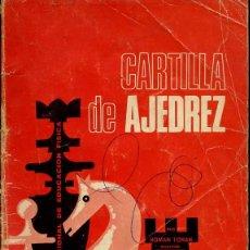 Coleccionismo deportivo: AJEDREZ - CARTILLA DE AJEDREZ - ROMAN TORAN - 1974 - 62 PG - FOTO ADIC. Lote 149640910