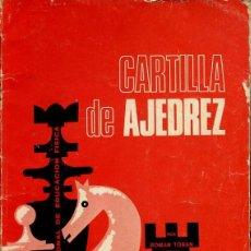 Coleccionismo deportivo: AJEDREZ - CARTILLA DE AJEDREZ - ROMAN TORAN - 1974 - 62 PG - FOTO ADIC. Lote 149640982