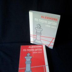 Coleccionismo deportivo: ALEXANDER ALEKHINE - MIS MEJORES PARTIDAS - 2 TOMOS - EDITORIAL LA CASA DEL AJEDREZ 2001. Lote 149720874