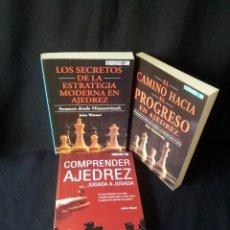 Coleccionismo deportivo: LOTE 3 LIBROS DE AJEDREZ - VARIOS AUTORES - EDITORIAL GAMBIT 2002. Lote 149728734