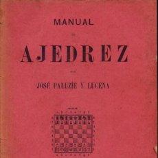 Coleccionismo deportivo: AJEDREZ - MANUAL DE AJEDREZ - JOSE PALUZIE Y LUCENA - QUINTA PARTE: PROBLEMAS - 1937 - FOTO ADIC. Lote 149730342