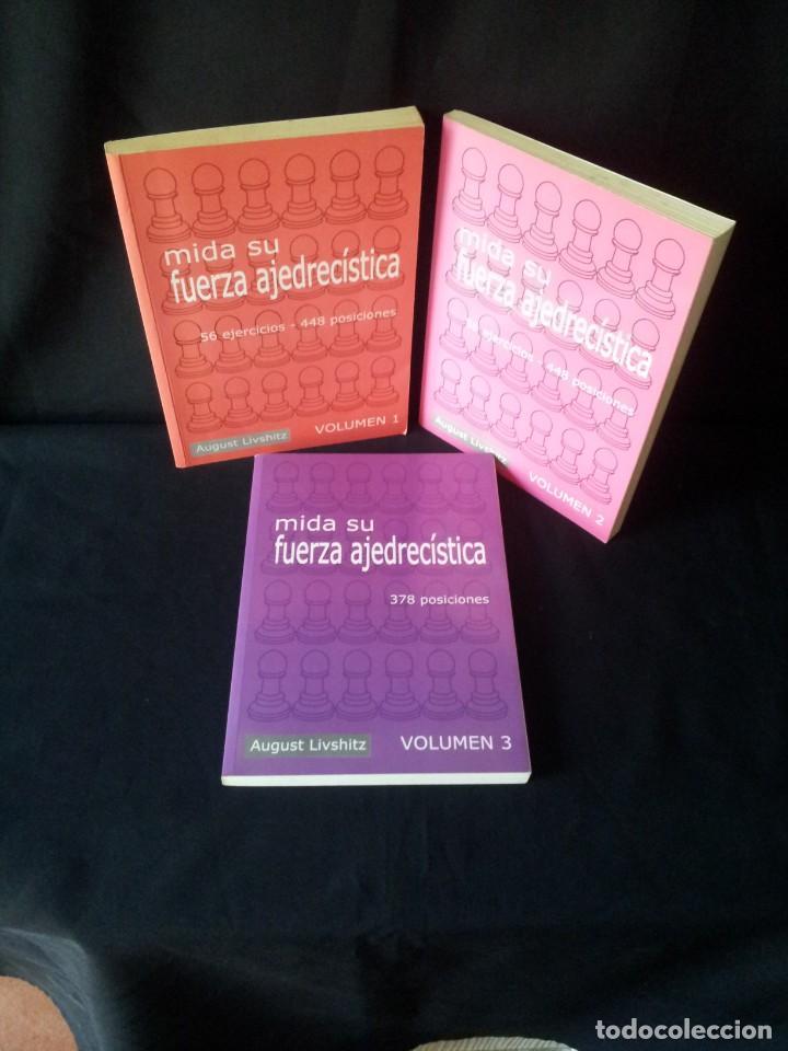 AUGUST LIVSHITZ - MIDA SU FUERZA AJEDRECISTA, 3 LIBROS - 2002 (Coleccionismo Deportivo - Libros de Ajedrez)