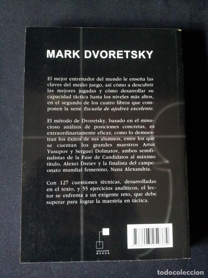 Coleccionismo deportivo: MARK DVORETSKY - SECRETOS DE LA TACTICA EN AJEDREZ - EDICIONES MERAN 2003 - Foto 2 - 150623910