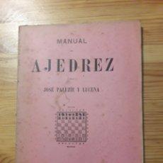 Coleccionismo deportivo: MANUAL DE AJEDREZ PALUZIE PARTE QUINTA Y TOMO PRIMERO. Lote 154973101