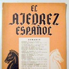 Coleccionismo deportivo: EL AJEDREZ ESPAÑOL. AÑO III. Nº 31 - MADRID 1958 - ILUSTRADO. Lote 157215216
