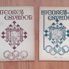 Coleccionismo deportivo: AJEDREZ ESPAÑOL 4 NUMEROS 1942-43 7,14,15,16 ALEKHINE. Lote 157244502