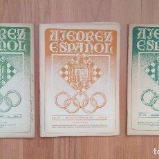 Coleccionismo deportivo: AJEDREZ ESPAÑOL 3 NUMEROS 1944 31 32 34 ALEKHINE. Lote 157244698