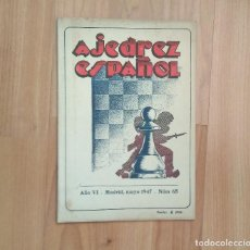 Coleccionismo deportivo: AJEDREZ ESPAÑOL 1 NUMERO 1947 65 POMAR. Lote 157245298