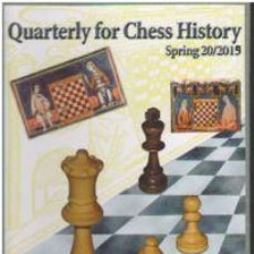 Coleccionismo deportivo: AJEDREZ. QUARTERLY FOR CHESS HISTORY VOL. 20. SPRING 2019 - VLASTIMIL FIALA (CARTONÉ). Lote 157365154