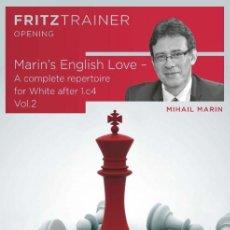Coleccionismo deportivo: AJEDREZ. CHESS. MARIN'S ENGLISH LOVE VOL. 2 - MIHAIL MARIN DVD. Lote 157577482