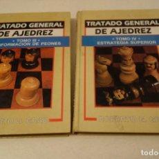 Coleccionismo deportivo: AJEDREZ. CHESS.TRATADO GENERAL DE AJEDREZ TOMO III CONFORMACIÓN DE PEONES Y TOMO IV ESTRATEGIA SUPER. Lote 158947278