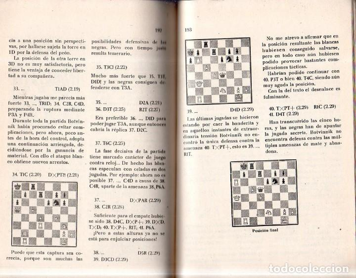 Coleccionismo deportivo: PRATICA DE AJEDREZ MAGISTRAL. MIGUEL TAL. CAMPEON MUNDIAL. EDICIONES DEPORTIVAS. 1960- 61. - Foto 6 - 159332226