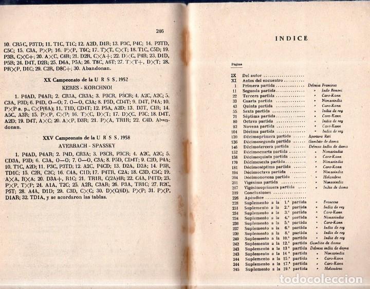 Coleccionismo deportivo: PRATICA DE AJEDREZ MAGISTRAL. MIGUEL TAL. CAMPEON MUNDIAL. EDICIONES DEPORTIVAS. 1960- 61. - Foto 7 - 159332226