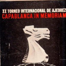 Coleccionismo deportivo: II TORNEO INTERNACIONAL DE AJEDREZ CAPABLANCA IN MEMORIAM. LUDEK PACHMAN. IMPRENTA INDER. 1965.. Lote 159338302