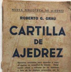 Coleccionismo deportivo: CARTILLA DE AJEDREZ. POR ROBERTO G. GRAU. SOPENA ARGENTINA. BUENOS AIRES, 1950. PAGS 62.. Lote 159342178