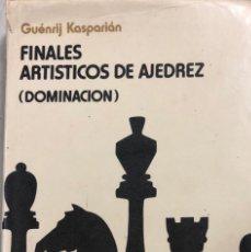 Coleccionismo deportivo: FINALES ARTISTICOS DE AJEDREZ (DOMINCION). POR GUENRIJ KASPARIAN. RADUGA. MOSCÚ, 1982. PAGS 542.. Lote 159345058