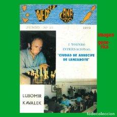 Coleccionismo deportivo: AJEDREZ CANARIO 23 1973 . Lote 159618570