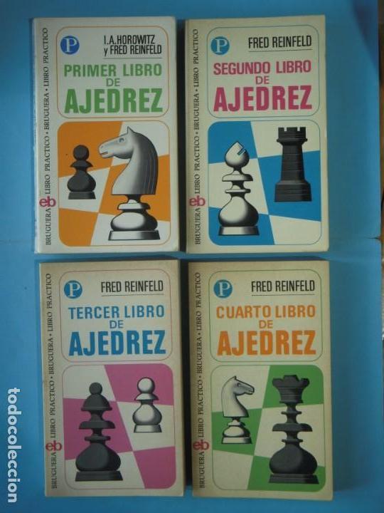 LIBRO DE AJEDREZ (LOS 4 LIBROS) - FRED REINFELD / I.A. HOROWITZ - BRUGUERA, 1972-1974 (Coleccionismo Deportivo - Libros de Ajedrez)